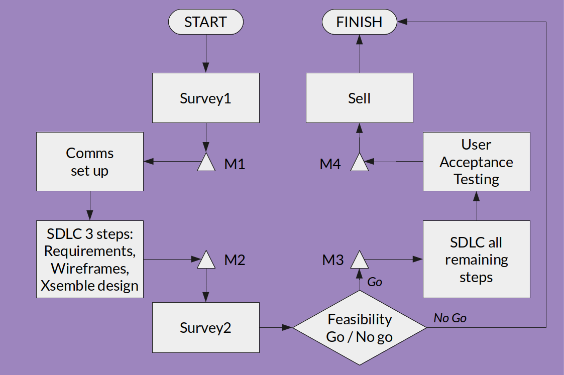 Software product development with Design Thinking aided by Xsemble